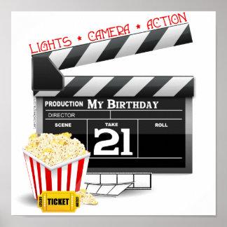 21ro Fiesta de la película del cumpleaños Póster