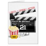 21ro Fiesta de la película del cumpleaños Felicitaciones