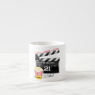21ro Fiesta de la película del cumpleaños Taza Espresso