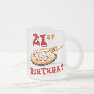 21ro Fiesta de la pizza del cumpleaños Taza De Café