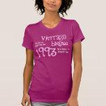 21ro Frambuesa 1993 del Brew del vintage del regal Camisetas