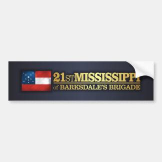 21ro Infantería de Mississippi (BA2) Pegatina Para Auto