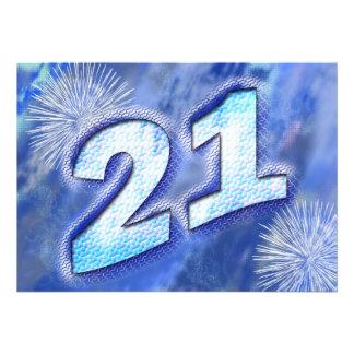 21ro Invitación de la fiesta de cumpleaños