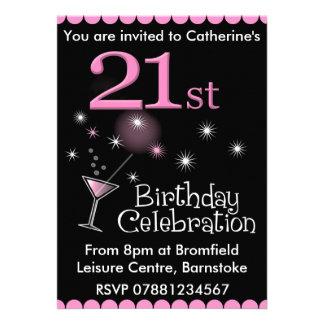 21ro Invitación de la fiesta de cumpleaños - vidri