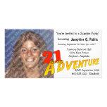 21ro Invitación de la foto del fiesta de aventura  Tarjeta Fotografica Personalizada