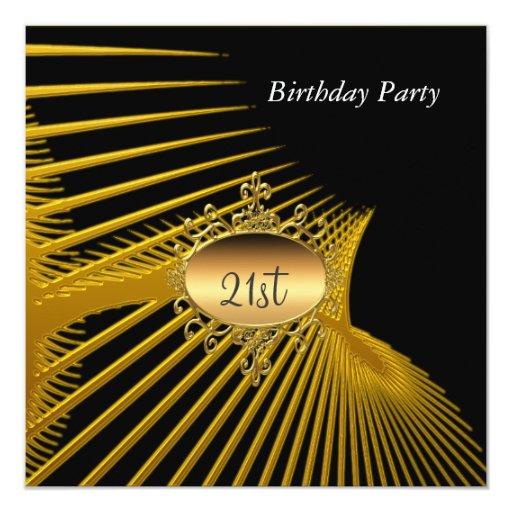 21ro Invitación del negro del oro de la fiesta de