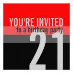 21ro Invitaciones de la fiesta de cumpleaños Invitación Personalizada