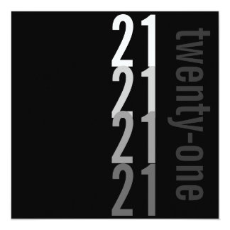 21ro Invitaciones de la fiesta de cumpleaños Invitación 13,3 Cm X 13,3cm