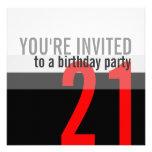 21ro Invitaciones de la fiesta de cumpleaños Invitacion Personal