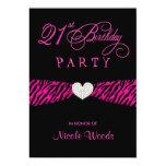 21ro Invitaciones de la fiesta de cumpleaños - Comunicado Personal