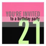 21ro Invitaciones de la fiesta de cumpleaños Anuncios