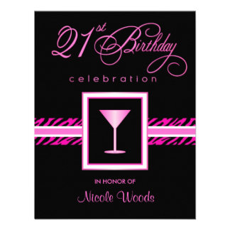 21ro Invitaciones de la fiesta de cumpleaños - ceb Invitación Personalizada