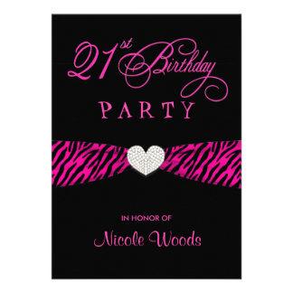 21ro Invitaciones de la fiesta de cumpleaños - ceb Comunicado Personal