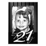 21ro Invitaciones del cumpleaños Anuncios Personalizados
