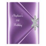 21ro Joya de color de malva púrpura del diamante d Invitaciones Personalizada