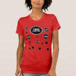 21ro La diversión 1993 del cumpleaños burbujea ROJ Camisetas