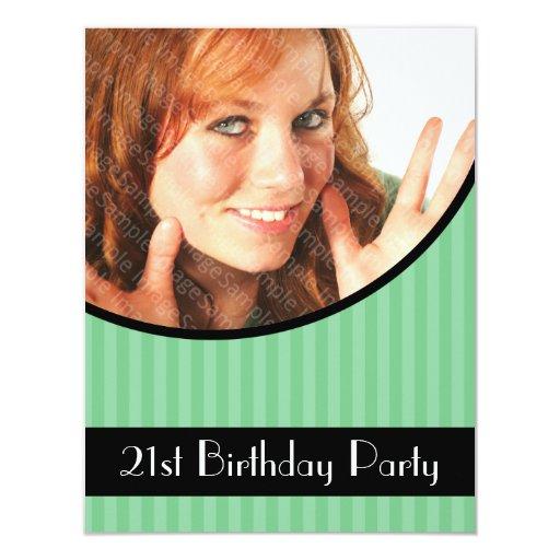 21ro Las invitaciones de la fiesta de cumpleaños Invitación 10,8 X 13,9 Cm