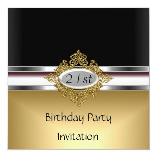 21ro Oro de la invitación de la fiesta de