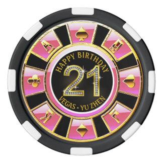 21ro oro negro rosado del casino el | del fichas de póquer