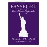 21ro pasaporte del cumpleaños de New York City Felicitaciones