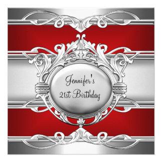 21ro Placa de la plata del rojo de cromo del metal Anuncio Personalizado