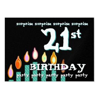 21ro Plantilla de la invitación de la fiesta de