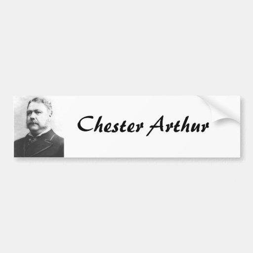 21ro presidente de Chester A. Arthur Etiqueta De Parachoque