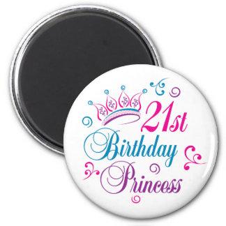 21ro Princesa del cumpleaños Imán Para Frigorífico