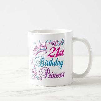 21ro Princesa del cumpleaños Taza De Café