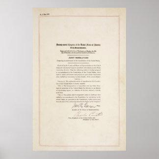 21ro Prohibición de la conclusión de la enmienda c Poster