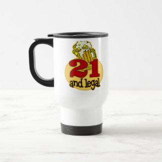 21ro regalo de cumpleaños divertido taza de viaje de acero inoxidable