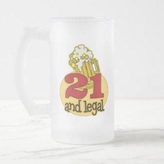 21ro regalo de cumpleaños divertido taza de cristal