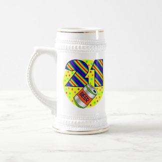 21ro Regalo de cumpleaños Jarra De Cerveza
