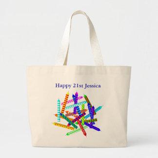 21ro Regalos de cumpleaños Bolsa Tela Grande