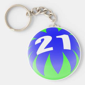 21ro ¡Regalos de cumpleaños, pelota de playa 21! Llavero Redondo Tipo Pin