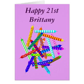21ro Regalos de cumpleaños Tarjeta De Felicitación