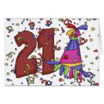 21ro Tarjeta de cumpleaños