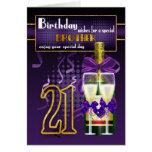 21ro Tarjeta de cumpleaños para Brother, cumpleaño