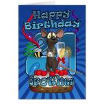 21ro Tarjeta de cumpleaños para Brother - ratón en