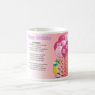 21ro Taza del poema de la ahijada del cumpleaños