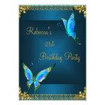 21ro trullo del azul de la fiesta de cumpleaños de anuncio personalizado