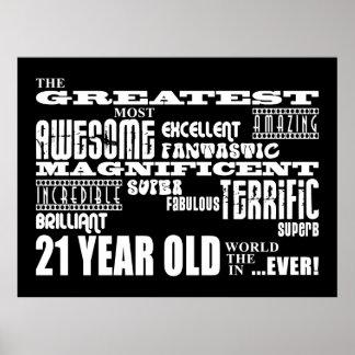 21ros años más grandes de la fiesta de cumpleaños póster