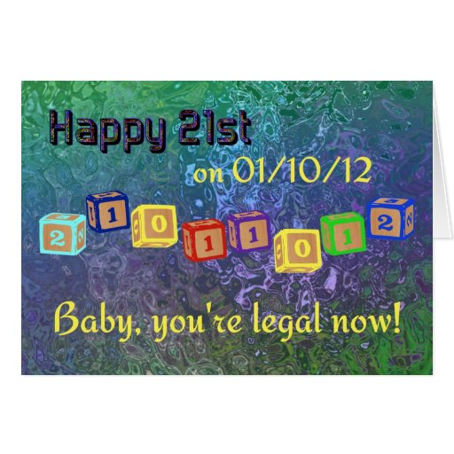 21ros bloques felices del bebé del Palindrome 0110 Felicitacion