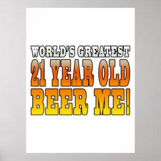 21ros cumpleaños divertidos: Años más grandes de Póster