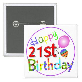 21ros saludos del cumpleaños pins
