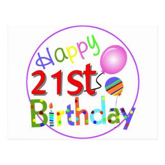 21ros saludos del cumpleaños postal