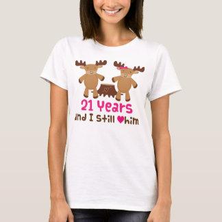 21st Anniversary Gift For Her T-Shirt