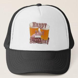 21st bday trucker hat