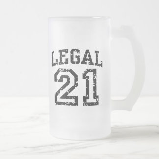 21st Birthday 16 Oz Frosted Glass Beer Mug