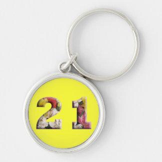 21st Birthday 21 Years Milestone Keychain